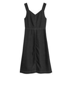 Fluid Twill Dress