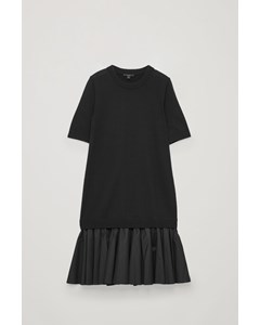 Panelled Knit Dress Black
