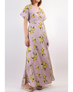 Leonie Dress Lilac Lemon