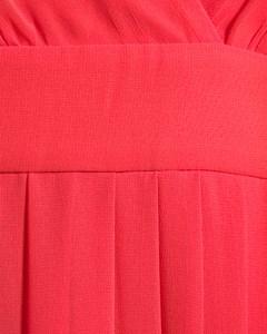 Cascade Dress  Red