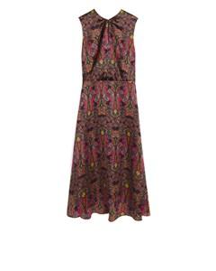 Paisley Satin Dress