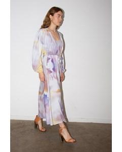 Sarah Dress Aquarelle. Open at front.