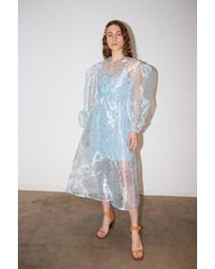 Sarah Dress Petite Feuille Bleu