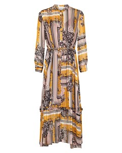 Valley Ls Maxi Dress Inca Gold