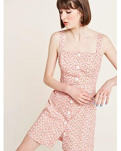 Ditsy Floral Lily Pinny Dress Pink