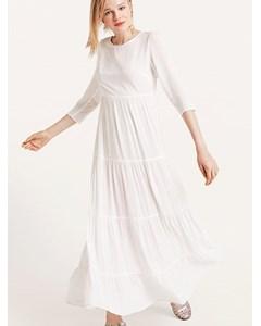 Joni Tiered Maxi Dress White