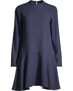 Duke Dot Dress L/s Maritime Dot