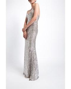 Long Thin Cross Strap Sequin Dress