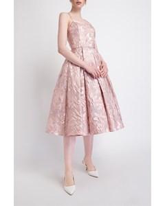 Elegant Jacquard Dress With Riding Skirt
