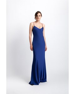 Elegant Thin Strapped Maxi Dress With Shoulder Decollete