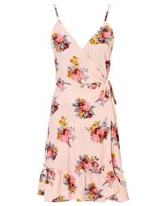 Strappy Wrap Dress Ljusrosa