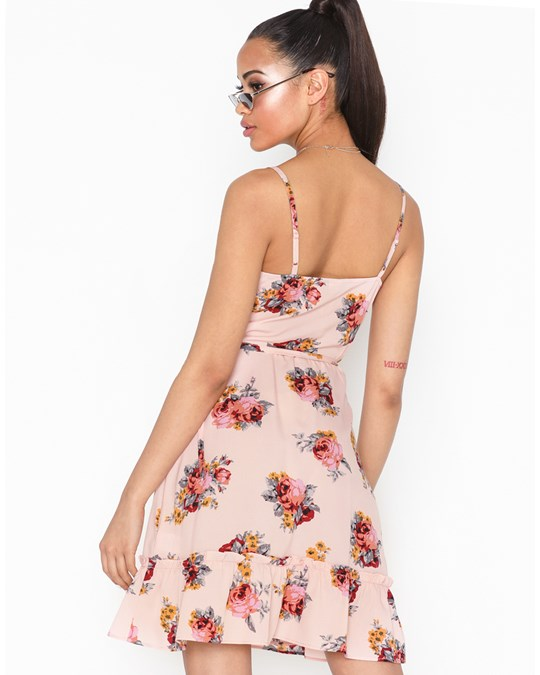 NLY by Nelly Strappy Wrap Dress Ljusrosa