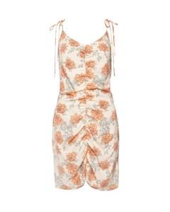 Drapy Strap Dress Floral