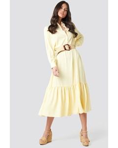 Solid Maxi Dress Light Yellow