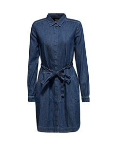 Dress Denim Midi Blue Medium Wash
