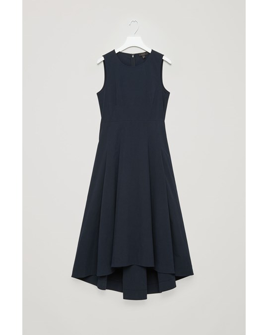 COS Ca Rulesheet Dress Blue