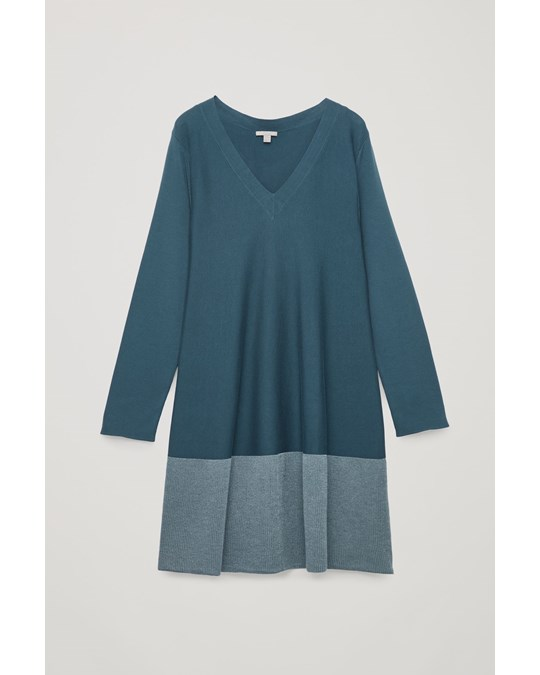 COS Ca Electraline Aline Dress Blue