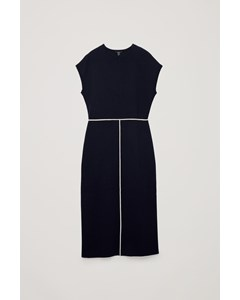 Cl Monay Contrast Trim Dress Blue