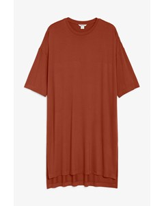 Oversized T-shirt Dress Reclaimed Rust