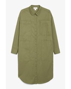 Utility Shirt Dress Khaki Green