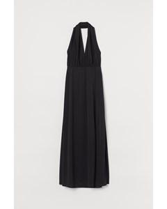 Lång Halterneck-klänning Svart