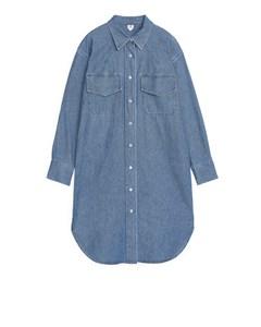 Denim Shirt Dress Blue