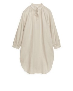 Linen Kaftan Dress Beige