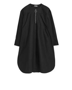 A-line Cotton Dress Black