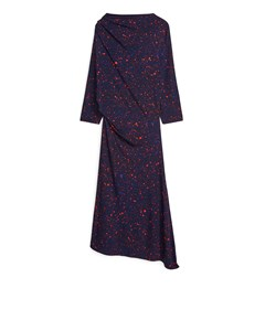 Asymmetric Dress Dark Blue/orange