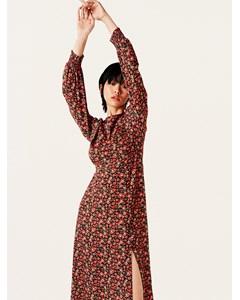 Georgie Midi Dress W Tiny Flowers Flower