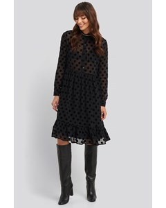 Polka Dot Mesh Dress Black/grey