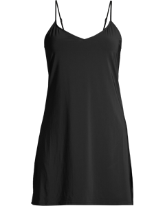 Microfibre Slip Dress Black