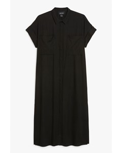 Sleeveless Shirt Dress Black Magic