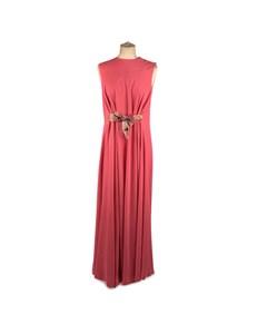 La Mendola Vintage Pink Kaftan Sleeveless Gown Evening Dress Size 46