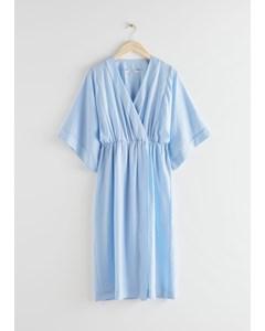 Kaftan Midi Dress Blue