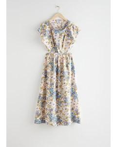 Elasticated Waist Maxi Dress Floral Print