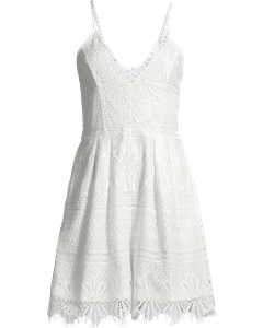 Lace Playsuit White
