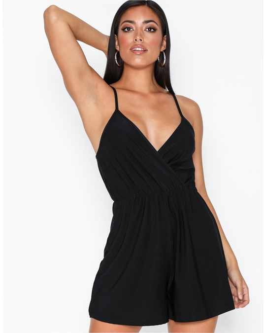 NLY by Nelly Strappy Playsuit Svart