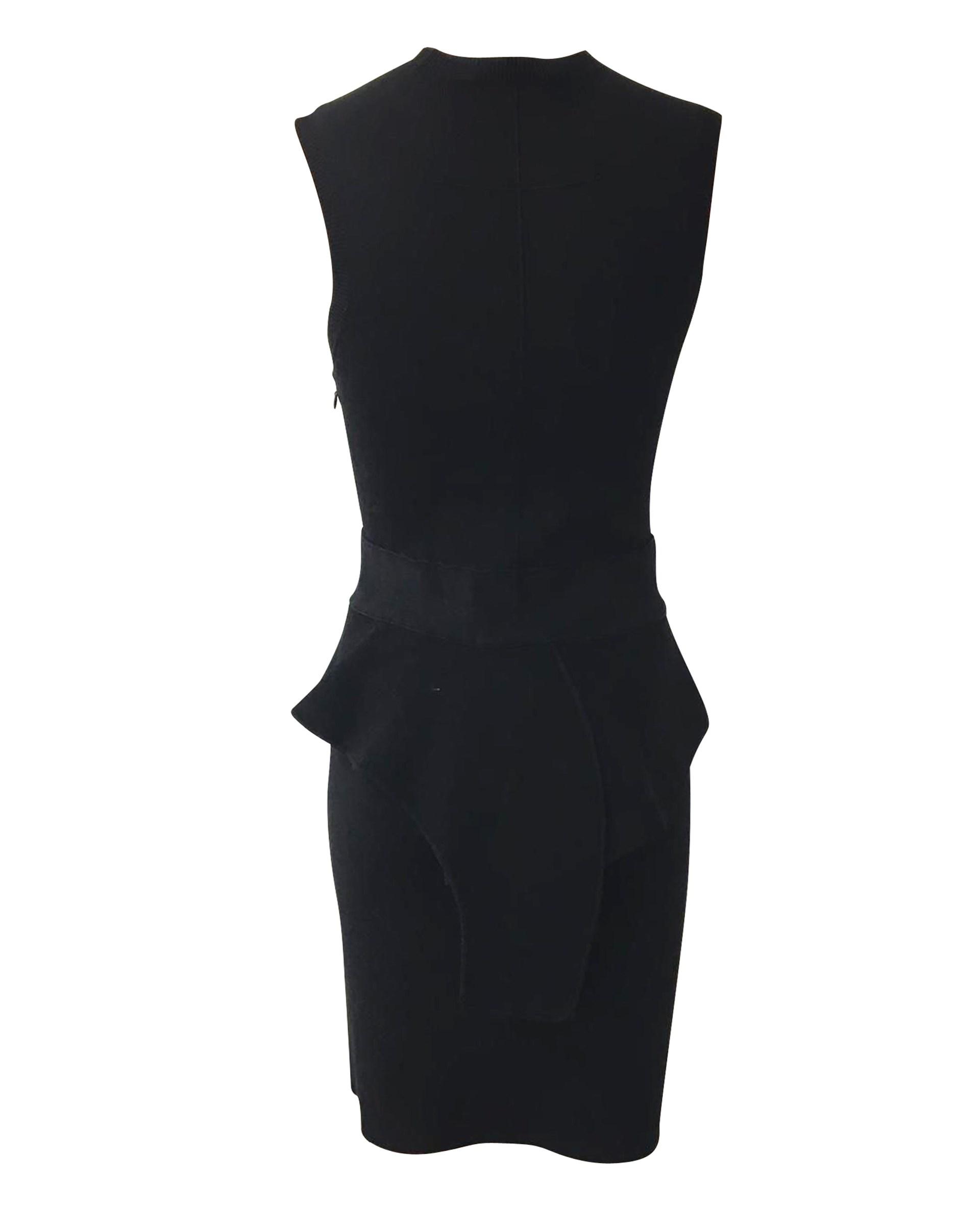 Schwarzes Schößchen Bodycon Kleid bis zu -70 %   AFOUND