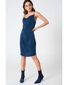 Cowl Neck Dress  Navy