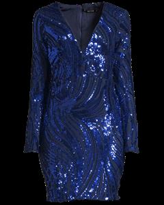 Luxe Glitter Dress, Blå