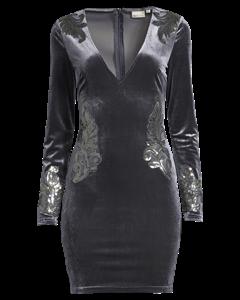 Decore Velvet Dress, Grå
