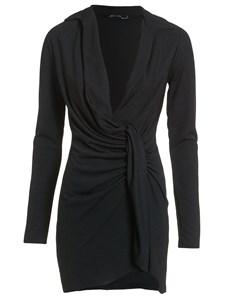 Oversize Plunge Dress Black