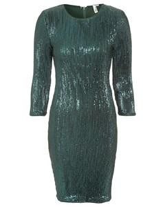 Sequin Power Dress Green