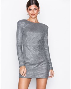 Power Glitter Dress Silver