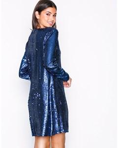 Sequin Shift Dress Blue