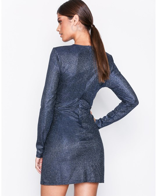 NLY by Nelly Sparkle Shimmer Dress Dark Blue
