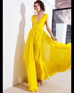 Gloria Gown Dress Yellow