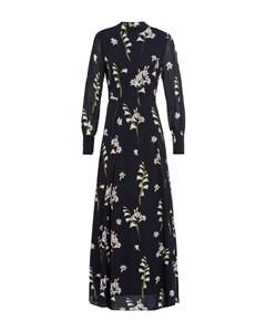 Stand-up Collar Dress Maxi