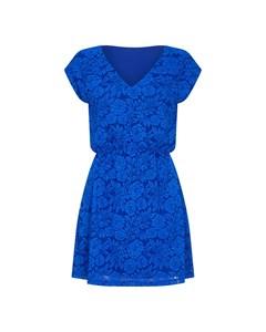 Lace Elasticated Waist Dress Cobalt